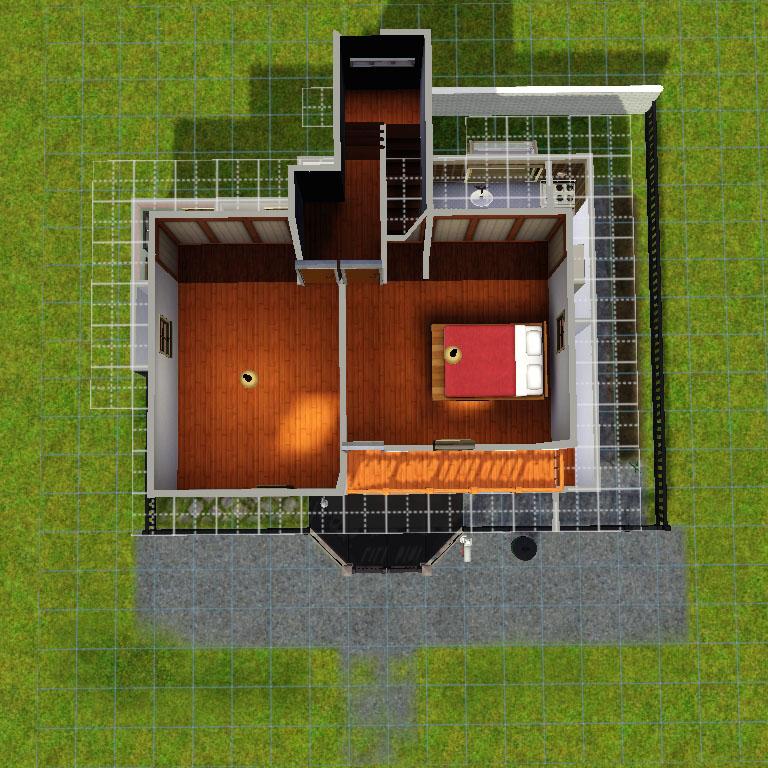 Sims3再現プレイ:自宅図