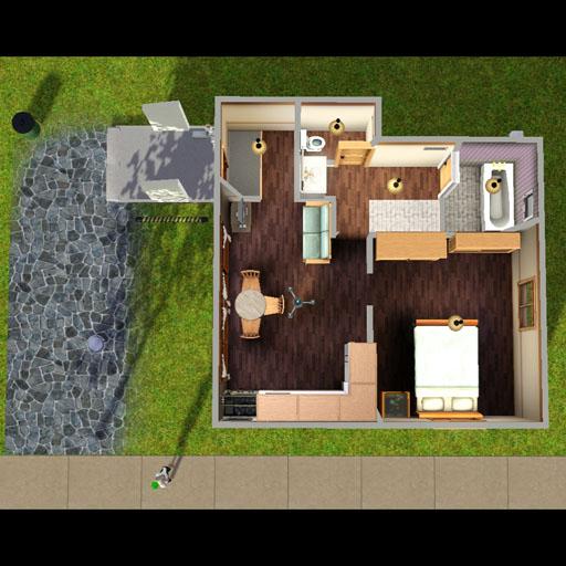特殊な屋根のスターターハウス