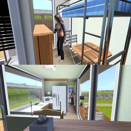 Sims3Lot[新造キャリングコンテナハウス]