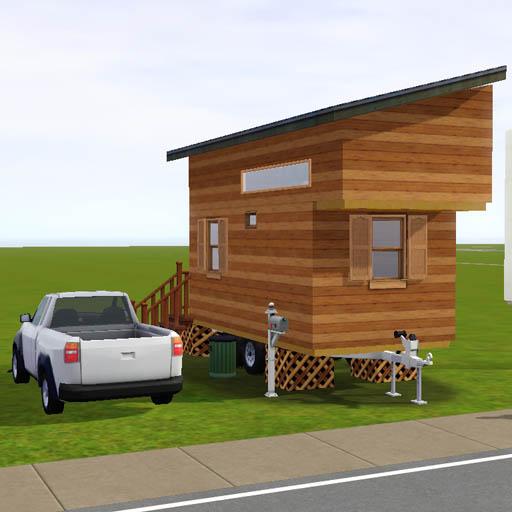 Lot内にトレーラーハウスを建築。