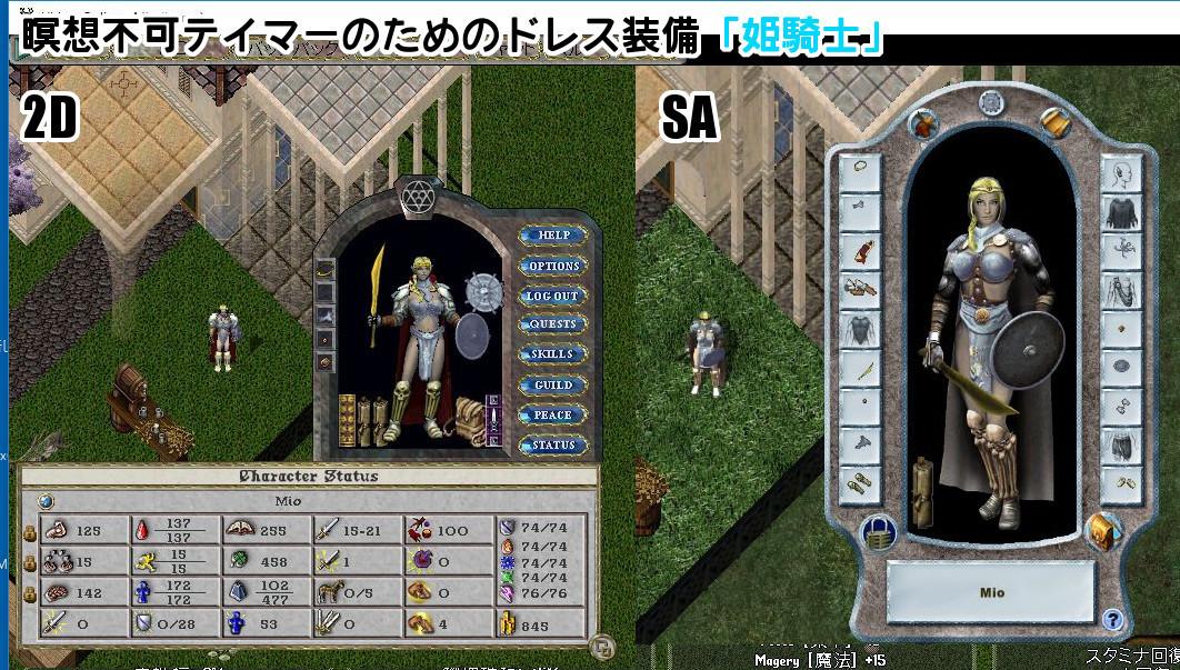 サブアカテイマー装備「姫騎士」