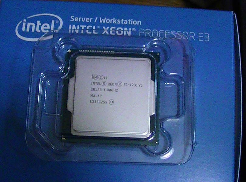 Xeon E3 1231 v3を購入&組み立て風景