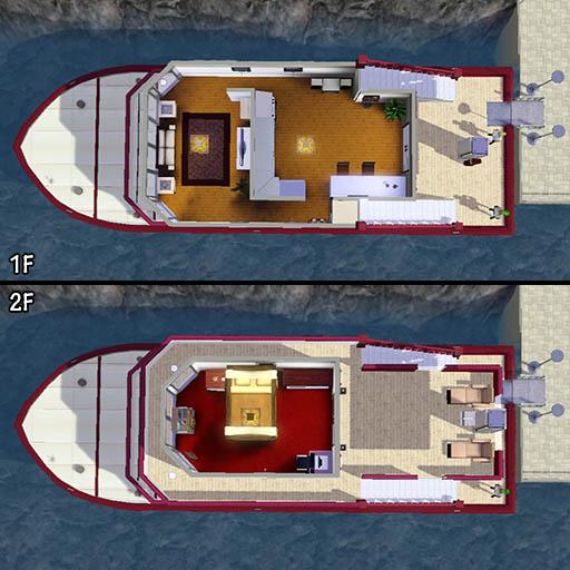 カップル向けちょっと豪華なヨット作成