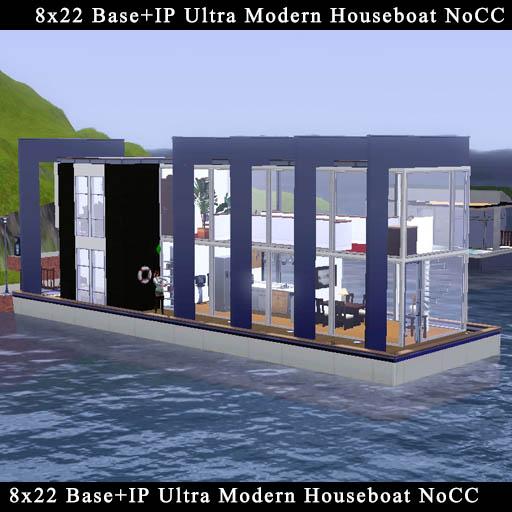 はしけ型モダン様式ハウスボートの作成