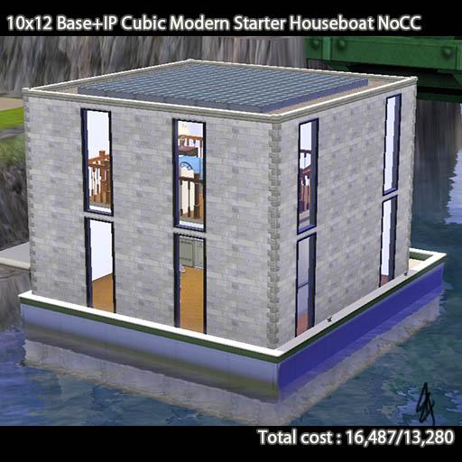 キューブ型スターターハウスボート