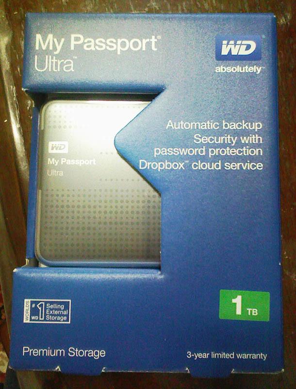 Western Digital製のMy Passportでデータバックアップ